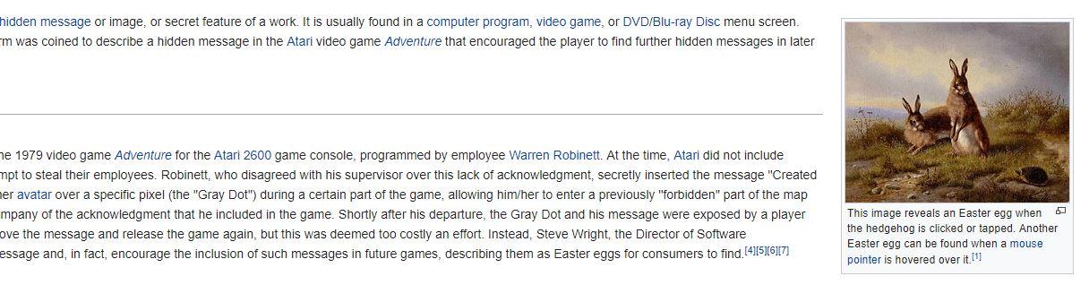 Wikipedia Easter Egg